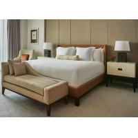 Wholesale Brown Leather Motel 6 Hotel King Bed Furniture , Fabric Bench from china suppliers