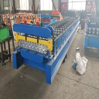 Wholesale Advanced Roofing Sheet Roll Forming Machine With Double Chains Drive 0.3mm - 0.8mm from china suppliers