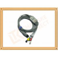 Wholesale 6 Pin One Piece Reusable ECG Patient Cable 5 Lead Defib , PVC Insulation from china suppliers