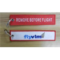 Wholesale Remove Before Flight Flyvlm Keychain Keyring Key Ring Key Chain Key FOB Embroidered Key Ch from china suppliers
