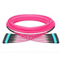 Wholesale MPO to MPO OM3 OM4 72 cores mpo patch cord MPO Products aqua/purple cable corning fiber from china suppliers