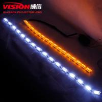 Wholesale IPHCAR 12V Phone App Control LED Flexible DRL RGB Crystal Daytime Running Light 490mm lenths from china suppliers