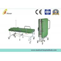 Wholesale Powder Coated Steel Medical Foldable Hospital Bed With Mattress (ALS-F249) from china suppliers