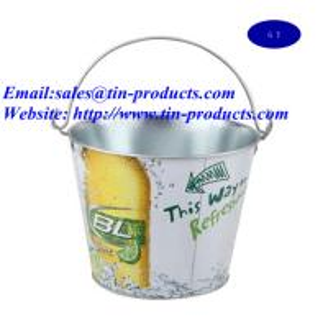China metal bucket、tin bucket 、tin pail、metal pail、tin pail with handle on sale
