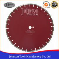 Wholesale 450mm Laser Welded Diamond Concrete Saw Blades Red / Yellow from china suppliers