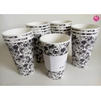 Wholesale Single Wall 16oz Hot Tea coffee takeaway cups Custom Paper Sleeve from china suppliers