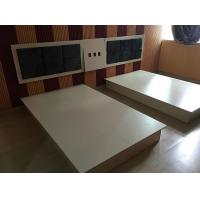 Wholesale Modern Hotel Room Furnishings Small Wooden Double Bed With Night Stand from china suppliers