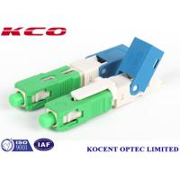 Wholesale Green 2.0mm 3.0mm FTTX  SC /APC field installable fiber optic connector from china suppliers