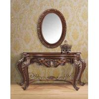 Wholesale Decorative Furniture Antique Dressing Table With Mirror 1.8m Mdf Tan Painted from china suppliers