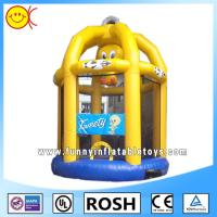 Wholesale Cute Yellow Birdcage Inflatable Combo Bouncers For Kid Playing from china suppliers