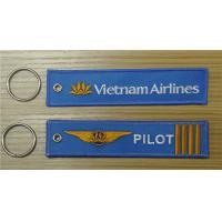 Quality Vietnam Airlines Logo Pilot 4 Bars 4 Bars Fabric Embroidery Keychain Keyring for sale