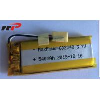 Wholesale 540mAh 602048 Lithium Polymer Batteries High temperature UL CE IEC from china suppliers