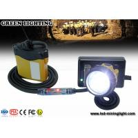Wholesale LED mining headlamp safety cap lamp , super brightness 25000lux IP68 from china suppliers