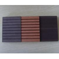 Wholesale Waterproof WPC Outdoor Decking Easy To Install And Clean / Balcony Deck Flooring from china suppliers