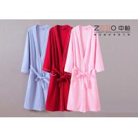Wholesale Durable Womens Terry Cloth Robe , Hotel Cotton Waffle Bathrobe DT0033 from china suppliers