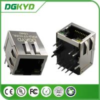 Wholesale Right Angle 10 / 100 BASE RJ45 Modular Jack with transformer, Ethernet Cable Connector from china suppliers