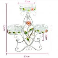 Wholesale Decorative Three Tier Plant Stand Outdoor , Heavy Duty Wire Plant Stand Garden Furniture Ornaments from china suppliers