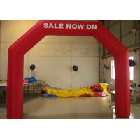 Wholesale Red Airtight Inflatable Arches Water Proof / Commercial Inflatable Christmas Arch from china suppliers