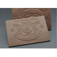 Wholesale Washable Disbossed / Embossed Leather Patches For Jeans Customized Logo from china suppliers