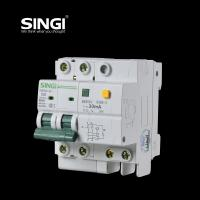 Quality SG65LE-63 10A  2P Singi Residual - current mini electrical circuit breaker 1P  2P 3P 4P for sale