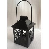 Wholesale Small Black Lantern Decorative Candle Holders Garden Hanging Tealight Holder from china suppliers