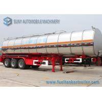 Wholesale 44 m3 Stainless Steel Asphalt Tank Trailer Tri Axle Steam Heat  Bitumen Tanker from china suppliers