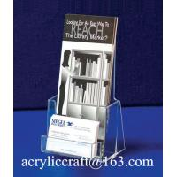 Wholesale Manufacture Customized Plexiglass Brochure Display Stand Acrylic Brochure Holder from china suppliers