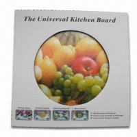 Wholesale Kitchen Board with 0.5cm Thickness, Made of Glass, Available in Round Shape from china suppliers