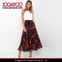 Wholesale 2016 Long Skirt Designs Women Elegant Pleated Maxi Floral Print Skirt from china suppliers