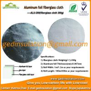 Buy cheap Insulation Materials,Aluminum Fiberglass Cloth Fabric 200g/M2 Fiberglass Fabric from wholesalers