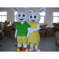 Quality white rabbits mascot cartoon cosplay costume  for sale