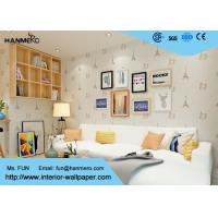 Wholesale Beige Cartoon Building Pattern  Waterproof Modern Kids Wallpaper from china suppliers