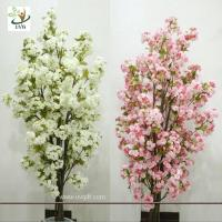 Wholesale UVG CHR089 Artificial white cherry blossom trees small bonsai Wedding Centerpieces from china suppliers