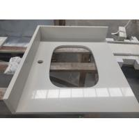 Quality Engineered Artificial Stone Slab Countertop With Sink Shape Ease Edged for sale