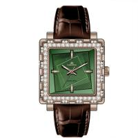 Wholesale OEM Couple Fashional Jade Watch Genuine Leather Wrist Watch Green from china suppliers