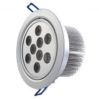 Wholesale High Efficiency 2 pin 9W Round LED Downlight 600-620lm For Offices from china suppliers