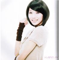 Wholesale Black Short Neat / Inclined School Girl Asian Hair Wigs from china suppliers