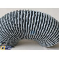 Wholesale PVC Coated Fiberglass Fabric Flexible Air Ducts 200MM Grey Waterproof Fireproof from china suppliers