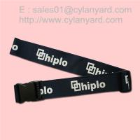 Wholesale Printed heavy duty polyester suitcase strap with plastic detachable release buckle, from china suppliers