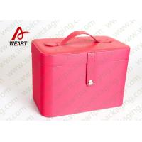 Wholesale Inside Leopard Fabric Cosmetic Drawer Paper Box , Recyclable Travel Makeup Organizer from china suppliers