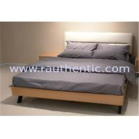 Modern Nordic comfortable solid wood bed with Double size and Metal supporting legs,Oak bedroom bed