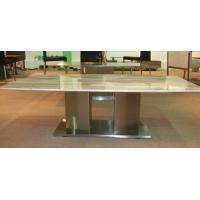 Wholesale Selected Italy White Carrara White Marble Top Dining Table / Dining Room Furniture from china suppliers