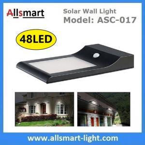 Wholesale 9W 48LED 850LM Sensitive Motion PIR Sensor Solar Power Corner Lamp LED Light Wall Light Stairway Garden Outdoor Lighting from china suppliers