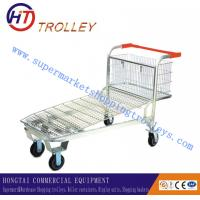 "Wholesale Folding Flat Steel Metal Hand Trolley For Warehouse / Shop , Caster Size 4"" - 5"" from china suppliers"