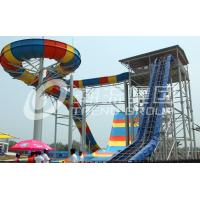 Wholesale Colorful FPR Large Water Slides Attractive Bommerang for Giant Outdoor Water Park from china suppliers