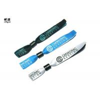 Wholesale Silver Woven Custom Fabric Wristbands With Embroidery Design Logo from china suppliers