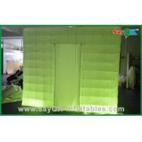 Wholesale Custom Made Portable Inflatable Led Photo Booth in Oxford Cloth , Green / Purple from china suppliers