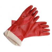Buy cheap Red PVC dipped long safety gloves from wholesalers