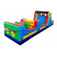Wholesale 40FT Commercial Inflatable Obstacle Course For Rent , Bouncy Obstacle Course from china suppliers