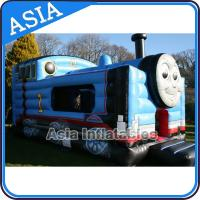 Wholesale Inflatable Choo Choo Train Tunnel Moonwalk Games For Kids Party Sports from china suppliers
